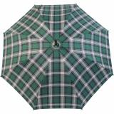 Doppler Manufaktur Regenschirm Kastanie Stützschirm - Karo grün weiss