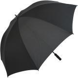 iX-brella Full-Fiber Golfschirm XXL 130cm leicht sturmfest mit Softgriff schwarz