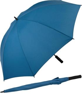 iX-brella Full-Fiber Golfschirm XXL 130cm leicht sturmfest mit Softgriff navy-blau