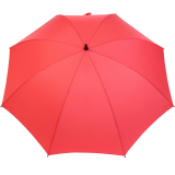 iX-brella Full-Fiber Golfschirm XXL 130cm leicht sturmfest mit Softgriff rot