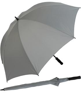 iX-brella Full-Fiber Golfschirm XXL 130cm leicht sturmfest mit Softgriff grau