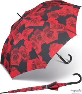 Stockschirm Kinematic groß stabil windfest mit Automatik - red rose