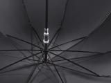 Stockschirm Herren mit Automatik und Holzgriff groß stabil windfest - black