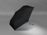 Damen Super Mini Taschenschirm Pencil leicht schlank windfest schwarz