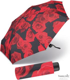 Ultra Mini Taschenschirm Damen Petito klein leicht windfest - red rose