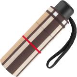 Ultra Mini Taschenschirm Petito klein leicht windfest - checks camel