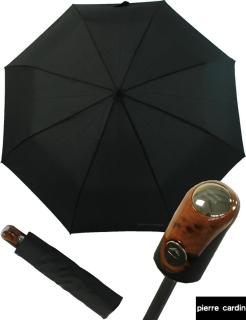 Pierre Cardin Herren- Taschen- Regenschirm Wood - Automatik - Holzoptik