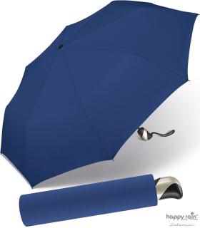 Taschenschirm Damen Auf-Zu Automatik Easymatic leicht stabil windfest - blue