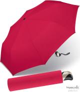 Taschenschirm Damen Auf-Zu Automatik Easymatic leicht stabil windfest - red