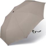 Taschenschirm Damen Auf-Zu Automatik Easymatic leicht stabil windfest - taupe