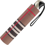 Taschenschirm Auf-Zu Automatik Easymatic leicht stabil windfest - checks brown
