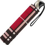 Taschenschirm Auf-Zu Automatik Easymatic leicht stabil windfest - checks red