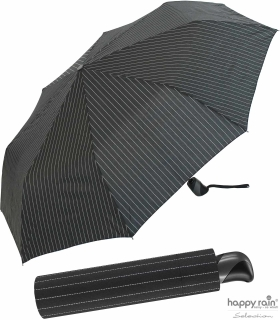 Taschenschirm Herren Auf-Zu Automatik Easymatic leicht stabil windfest - needle stripe