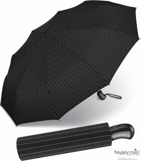 Taschenschirm Auf-Zu Automatik Gents Easymatic leicht stabil windfest - needle stripe
