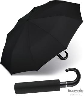 Regenschirm Taschenschirm Auf-Zu Automatik Gents Easymatic leicht stabil black