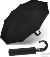Taschenschirm Auf-Zu Automatik Gents Rundhakengriff leicht stabil windfest - black