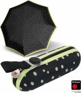 Knirps Regenschirm Taschenschirm Super Mini X1 Flakes - black