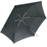 iX-brella magic - kleiner Taschenschirm Auf-Zu Automatik UV-sensitiver Griff - schwarz-silber