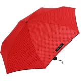 Mini Taschenschirm Damen Joy Heart klein leicht Punkte dots - red - black dots