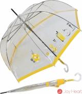 Stockschirm transparent Damen Automatik Joy Heart - Parfum - gelb
