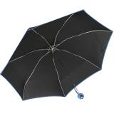 Mini Taschenschirm Damen Joy Heart klein leicht Parfum - schwarz-blau