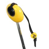 Mini Taschenschirm Damen Joy Heart klein leicht Parfum - schwarz-gelb