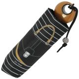 Mini Taschenschirm Damen Joy Heart klein leicht - purse Handtasche - schwarz-caramel