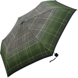 Doppler Mini Taschenschirm Havanna UV-Protect sturmfest leicht - Milito - grün
