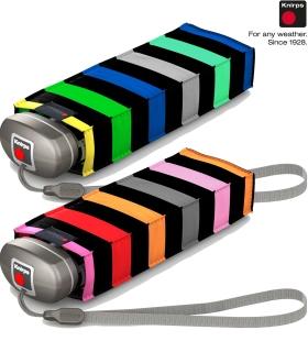 Knirps Regenschirm Mini Taschenschirm Travel klein leicht - stripes