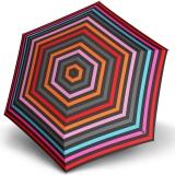 Knirps Regenschirm Mini Taschenschirm Travel klein leicht - stripes fuchsia