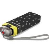 Knirps Regenschirm Mini Taschenschirm Travel klein leicht - flakes black