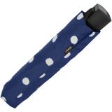 Knirps Regenschirm Fiber T1 Automatik - Sturmsicher - dot art navy