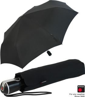 Knirps Regenschirm Taschenschirm Large Duomatic - black