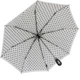 Knirps Regenschirm Taschenschirm Large Duomatic Polka Dots - white-black