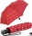 Knirps Regenschirm Taschenschirm Large Duomatic Polka Dots - red-white