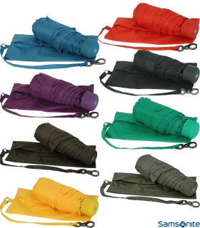 Samsonite Regenschirm Super Mini Taschenschirm mit Tasche Minipli Colori