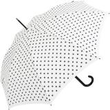Knirps Stockschirm Damen Automatik polka dots - white-black