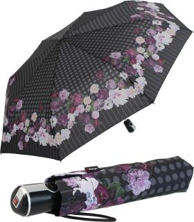 Knirps Regenschirm Damen Taschenschirm Large Duomatic Blooming - Amethyst