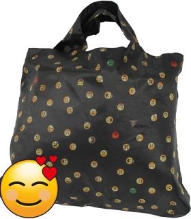 Emoticon Shopper-Bag - Faltshopper - wiederverwendbare Einkaufstasche lustig bedruckt