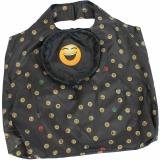 Emoticon Shopper-Bag - Faltshopper - wiederverwendbare Einkaufstasche lustig bedruckt - laughing