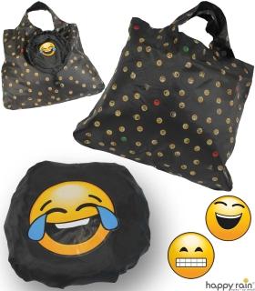 Emoticon Shopper-Bag - Faltshopper - wiederverwendbare Einkaufstasche lustig bedruckt - tears