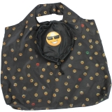 Emoticon Shopper-Bag - Faltshopper - wiederverwendbare Einkaufstasche lustig bedruckt - sun glases