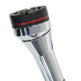 Gastrock Gehstock Spazierstock Dr. Cane DERBY-Griff aus Holz, Kreiselpuffer, höhenverstellbar, Aluminium