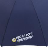 """Stockschirm für Damen und Herren mit Automatik - bedruckt """"Das ist doch kein Wetter!"""" - navy-blau"""