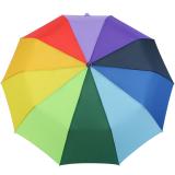 iX-brella Taschenschirm rainbow 10-teilig extra stabil mit Auf-Zu-Automatik - Regenbogen