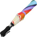 iX-brella XXL Taschenschirm 124cm - mit Automatik 16-farbiger Regenbogen