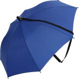 iX-brella Umhängeschirm Hands-Free - der Automatik-Regenschirm mit Gurt - royal-blau