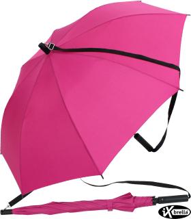 iX-brella Umhängeschirm Hands-Free - der Automatik-Regenschirm mit Gurt - pink
