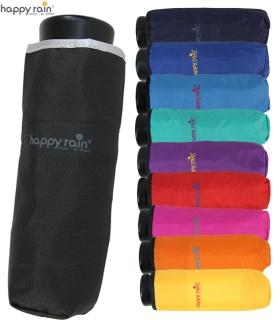 Ultra Mini Taschenschirm Damen Regenschirm Uni