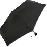 Ultra Mini Taschenschirm Damen Regenschirm Uni - schwarz